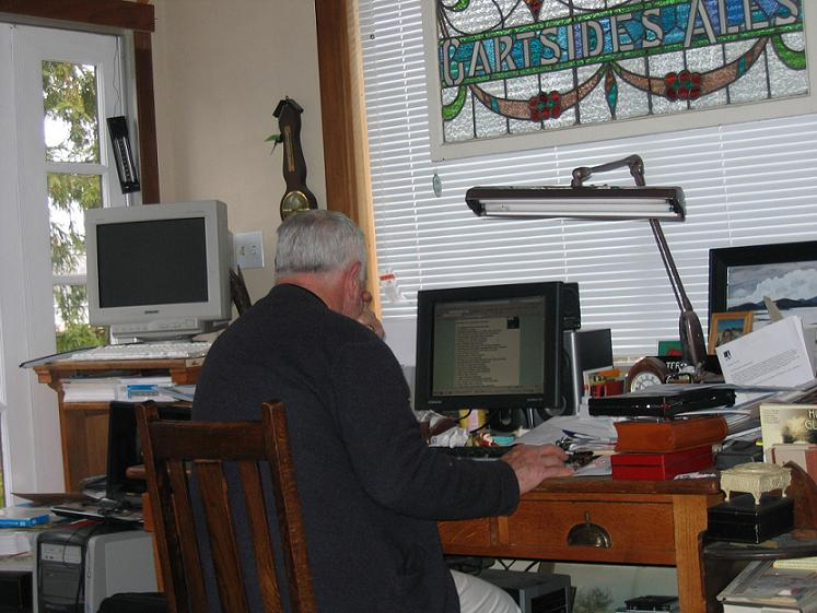 Philip Working On His Website