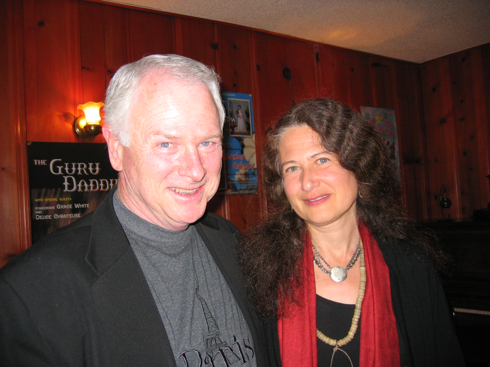 Philip with Jane Hirschfield