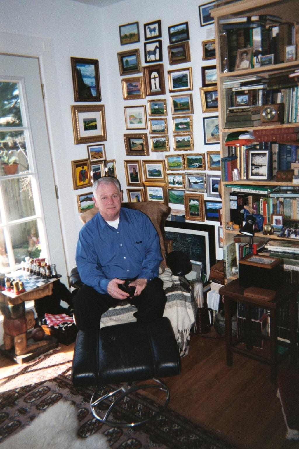 Philip and some of his paintings